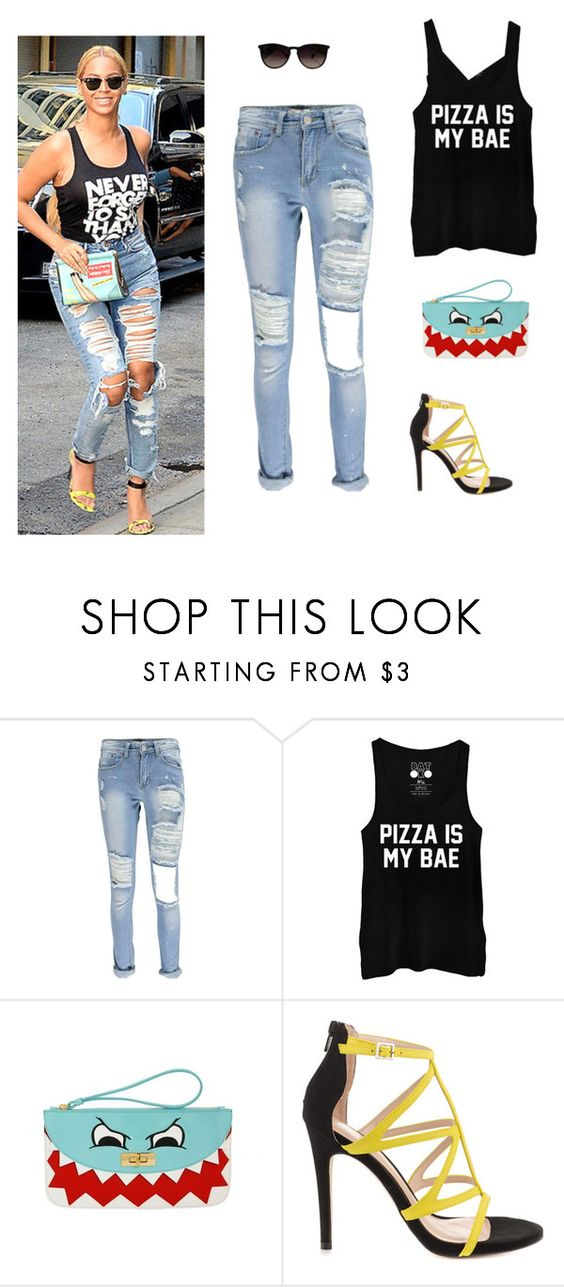 """Untitled #163"" by alwateenhosam on Polyvore featuring Moschino Cheap & Chic, ALDO and Ray-Ban"