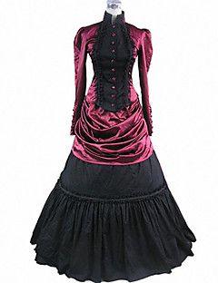 Geheimnisvolle Vampir-Königin Blutige Red Gothic Lolita Kleid