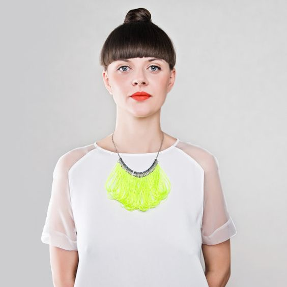 Necklace/ FLUO by AnnaLawskaJewellery