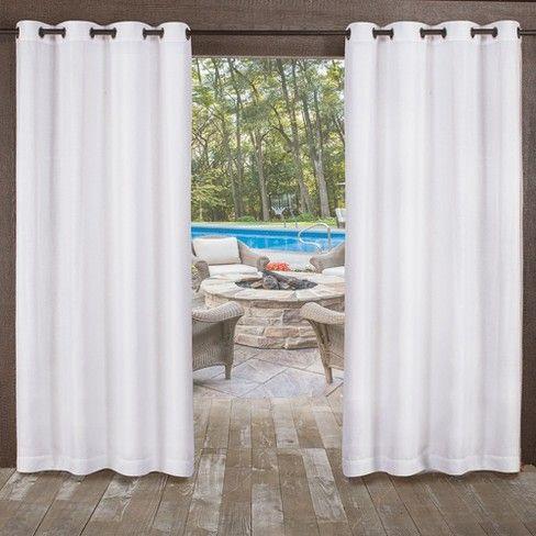 Exclusive Home Miami Indoor Outdoor Textured Sheer Grommet Top