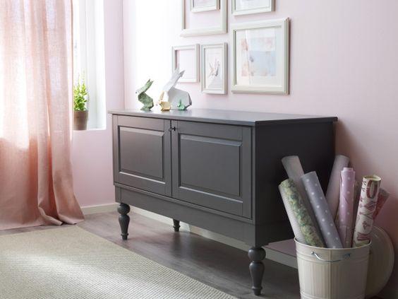ISALA sideboard i grått, skåp i lila | IKEA | Pinterest | Bedroom ...
