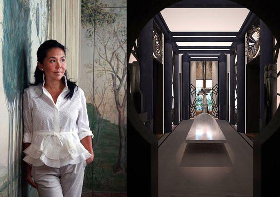 AD Intérieurs 2012. Les chambres éclipse de Rose Anne de Pampelonne.