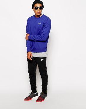 Nike Air Sweat ras de cou avec grand logo virgule Noir