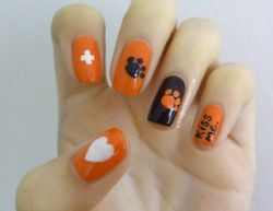 awesome Ed Sheeran inspired nails!