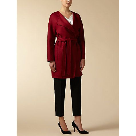 Buy Jaeger Drop Shoulder Wool Coat Winter Berry Online at