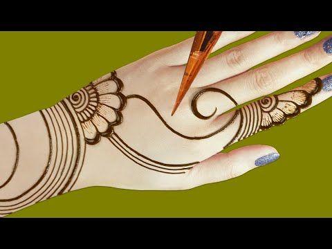 arabic hand mehndi design simple and easy