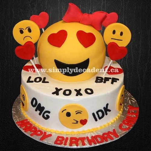 3d Emoji Birthday Cake Emoji Emojis Emojiparty Emojimovie