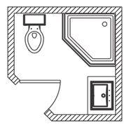 Bathroom ideas floor plans and floors on pinterest for 6x6 bathroom layout