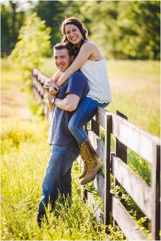 Genna and Chris's Midlothian Horse Farm Engagement Session