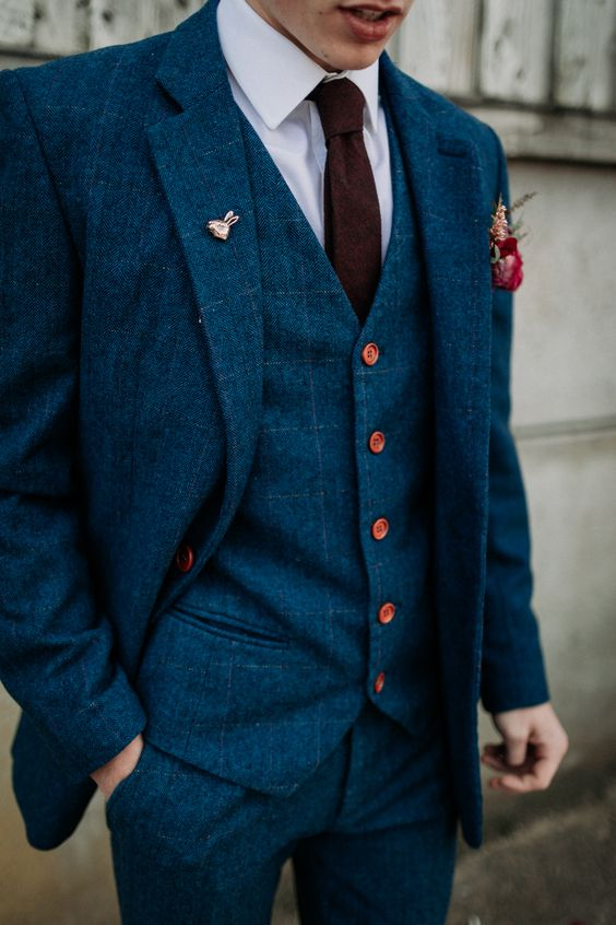 Groom Suit Style Navy Three Piece Burgundy Tie Pin Industrial Luxe Wedding Ideas Balloon Installation Ayelle Photography #Groom #Suit #Style #Navy #Three #Piece #Burgundy #Tie #Pin #wedding