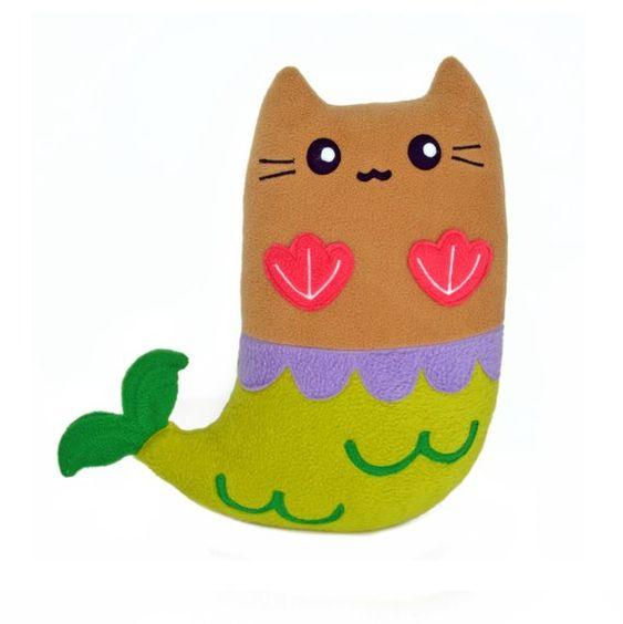 Purrmaid soft plush toy plushie pillow cushion novelty cat
