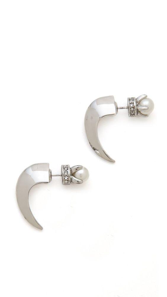 Pin for Later: Les perles sont plus tendance que jamais !!! Boucles d'oreille perles Rebecca Minkoff Rebecca Minkoff Curbs Front Back Stud Earrings ($58)