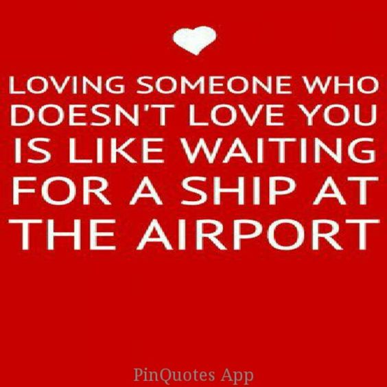 Or waiting for a plane at a dock...or he descides he loves you...that's why we have hovercraft!!!!