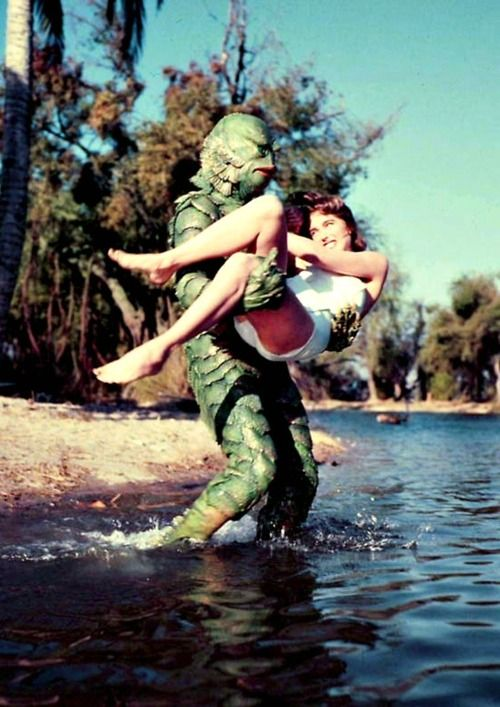 holy shit Creature From The Black Lagoon in colour