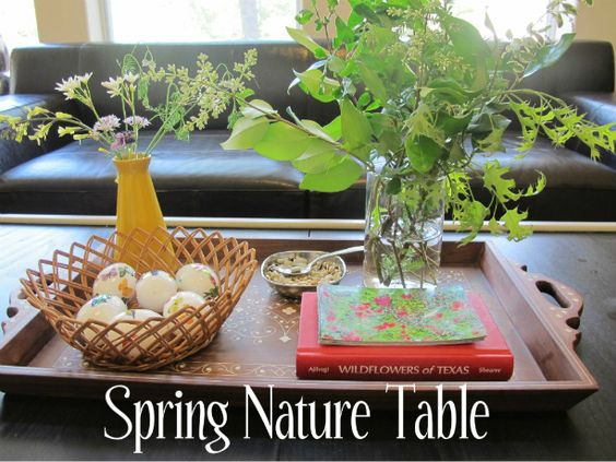 Spring Nature Table: Kids Science Exploring, Nature Tables, Kid Activities Projects, Spring Nature, Cody Ideas, Flower Spring, Discovery Table, Kids Parenting