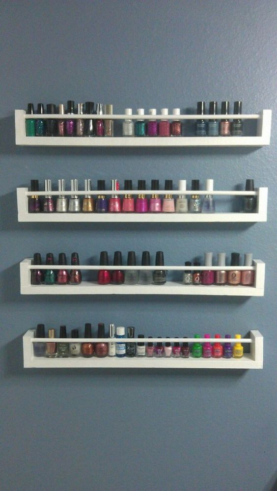 vernis sur tag re pices nail polish on a spice rack. Black Bedroom Furniture Sets. Home Design Ideas