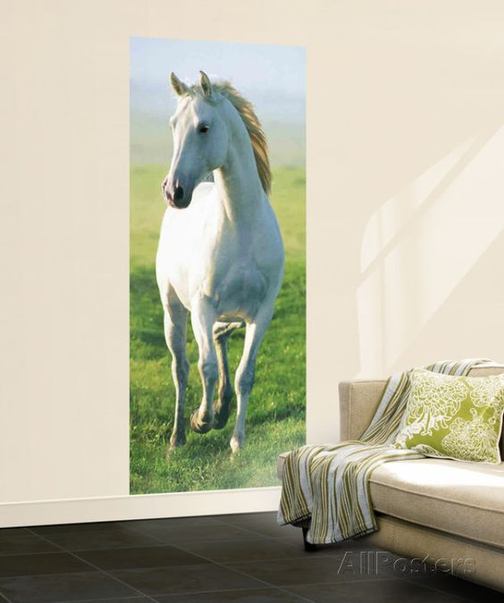 White Horse Giant Mural Poster , 34x79