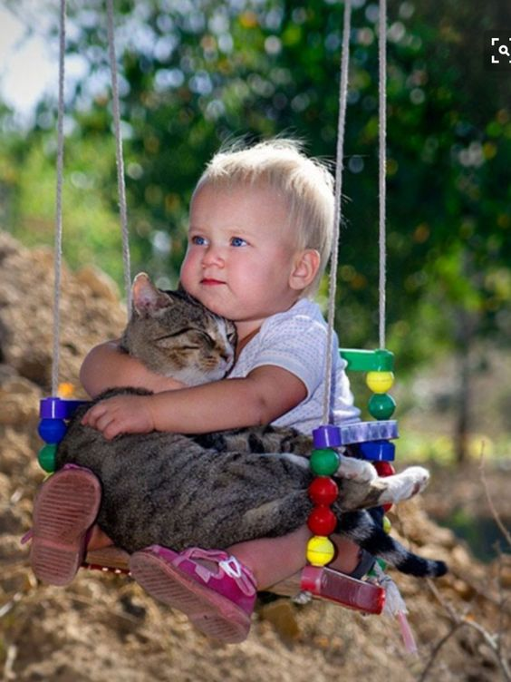 Two best friends on a swing |  <a href=