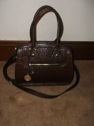 celine classic bag price - London Fog Knightsbridge Mahogany Brown Croc Emboss Satchel Bag ...