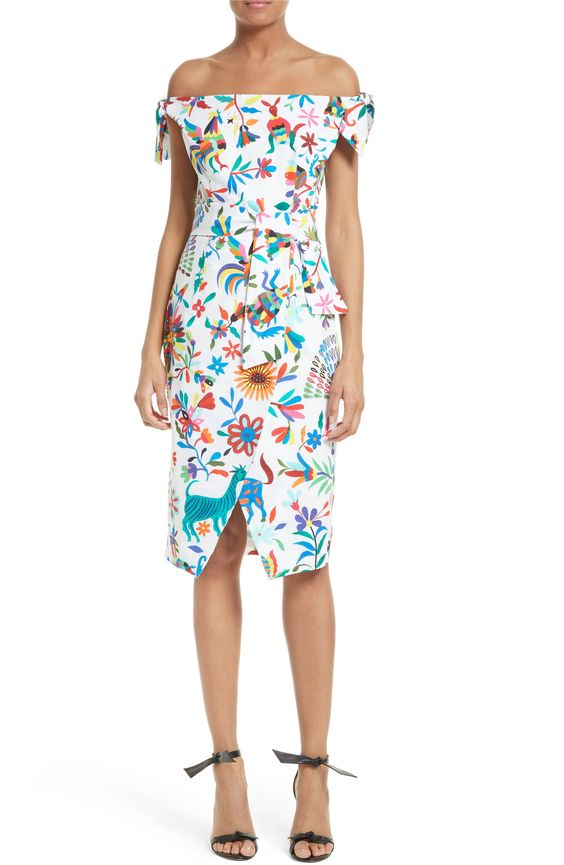 Main Image - Milly Folkloric Print Poplin Dress