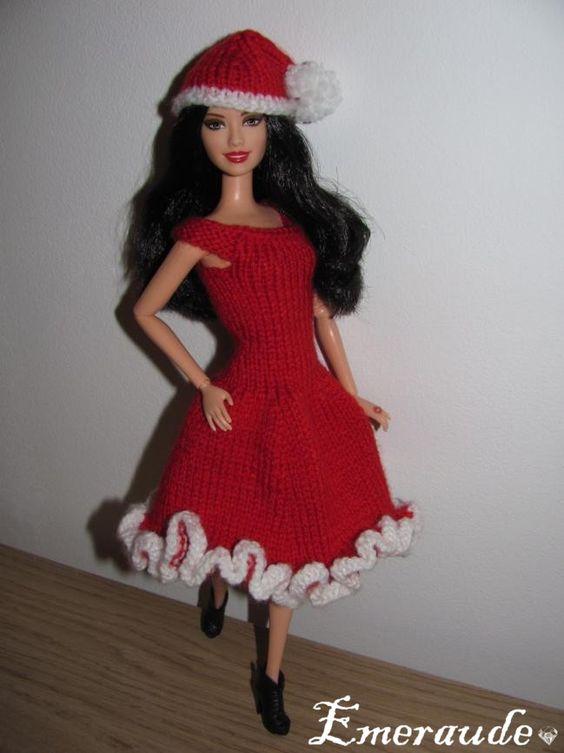 tricot no l n 1 pour barbie ropa de punto para mu ecas pinterest barbie tricot and noel. Black Bedroom Furniture Sets. Home Design Ideas
