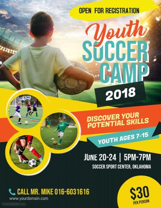 Soccer Camp Flyer Poster Template Sports Flyer Poster Design