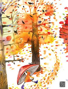 Christmas Watercolor Ornaments Holiday Card By Masha D Yansmasha Watercolor Mischief Autumn Art Tree Art Art