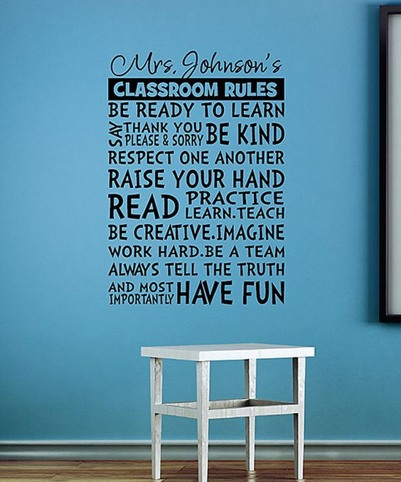 Look at this Personalized Classroom Rules on #zulily today!