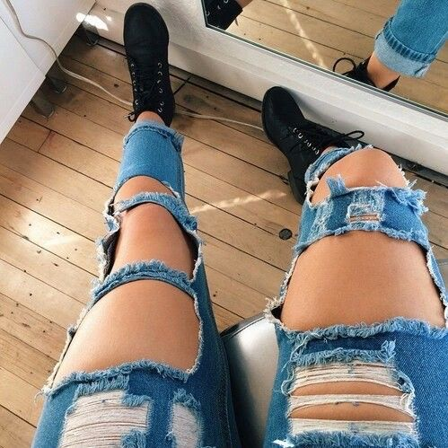 Ripped jeans - image #3088816 by marine21 on Favim.com
