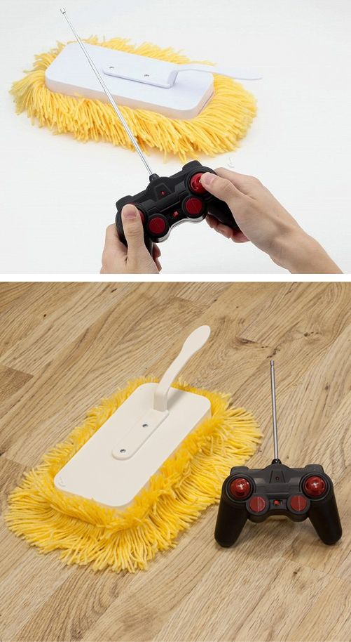 Remote control mop! I think this is the only way I'll get *certain* people to do the cleaning...