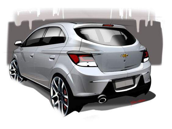 Chevrolet Onix Design Sketch Carro Onix Onix Chevrolet Onix