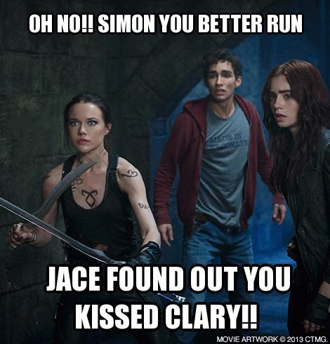 Create your own memes and share with fellow Shadowhunters! The Mortal Instruments City of Bones in theaters August 21. http://www.MortalMemes.com/: