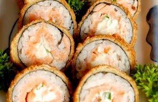 PEDRO HITOMI OSERA: RECEITA DE Hot Roll de salmão e Kani-CULINÁRIA JAP...