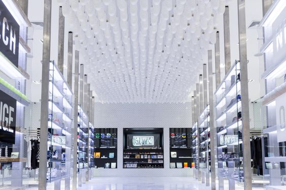 kith brooklyn new store by snarkitecture daniel arsham and ronnie fieg