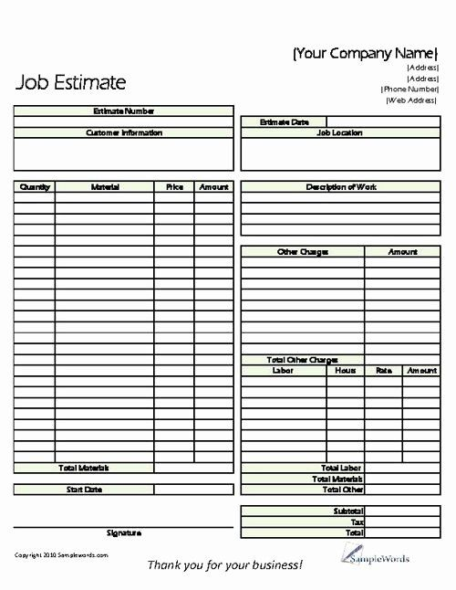 Simple Invoice Template For Independent Contractor Invoice