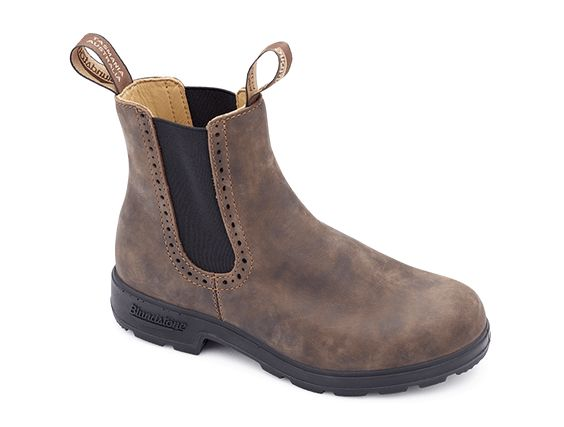 Rustic Brown Premium Leather Pull-on Boots - Blundstone USA