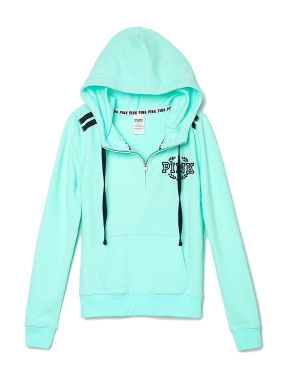 Perfect Half,Zip Hoodie , PINK , Victorias Secret