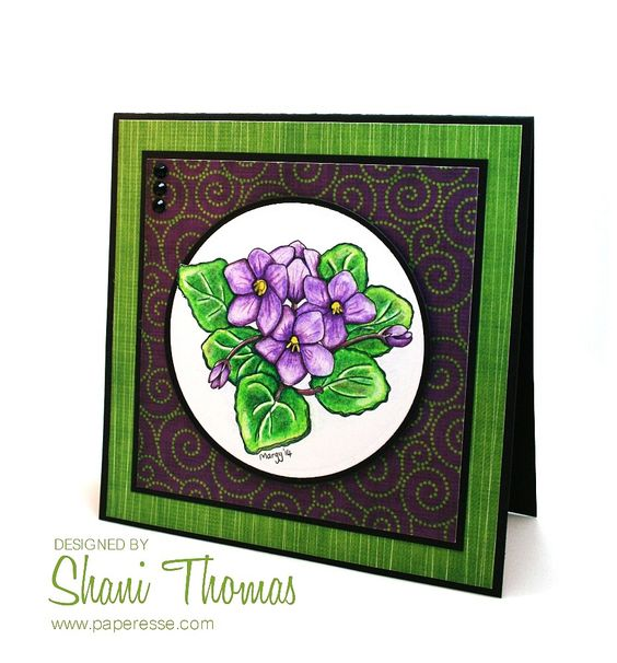 African Violets Digistamps 4 Joy and Sassy Designs Heather digital papers.
