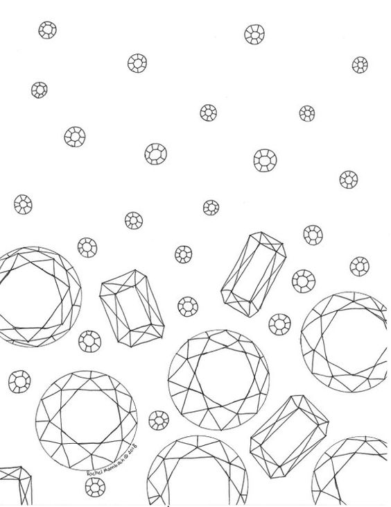 Free Coloring Page Hallelujah Its Raining Gems This Fun Trendy