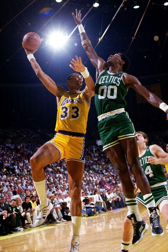 Kareem Abdul-Jabbar with Robert Parish   Basketball ...