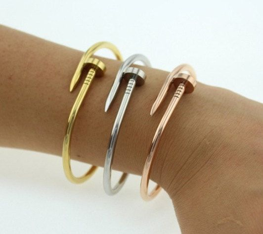 Cartier Inspired Nail Bracelet Available In By