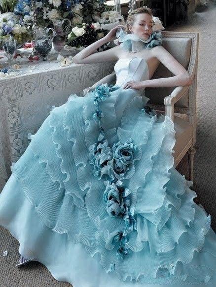 Light Blue Wedding Dress - Color Wedding Dresses &amp- Evening gowns ...