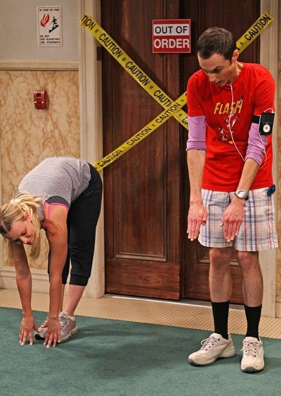 The Big Bang Theory .... toe touch. This is one of my favorite episodes. I even used it for class!!!!: