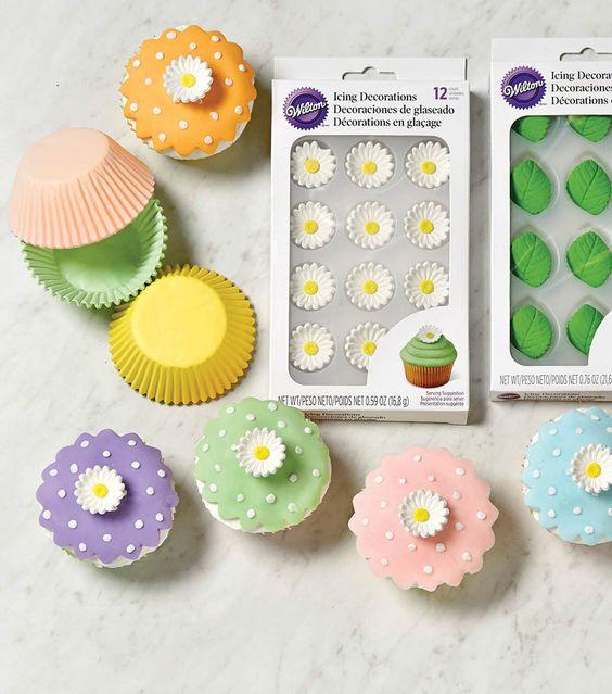 Spring Garden Cupcakes | Spring Food | DIY Cupcake Art | Spring Inspirations