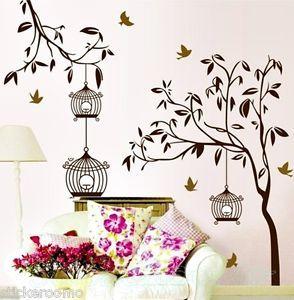Murales para pared de arboles buscar con google for Murales decorativos pared