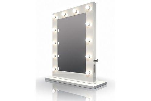 Miroir De Salle De Bain Diamond X Collection Miroir De Maquillage Hollywood Brillant Blanc Lampes Led Blanches Lampe Led Miroir Maquillage Miroir Salle De Bain