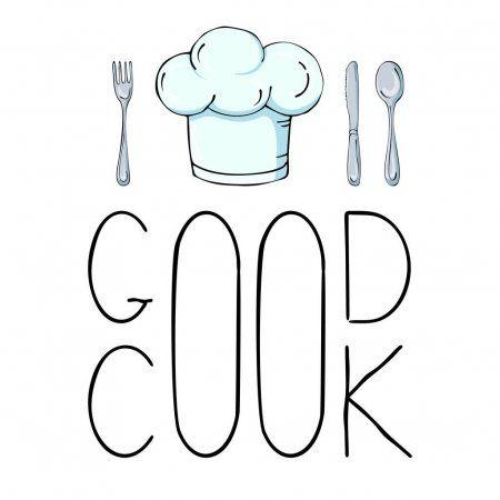 Ilustracion Dibujada A Mano Con Utensilios De Cocina Vector Real Dra Ilustracion De Stock Cocinar Dibujo Ilustracion Vectorial Sombreros De Chef