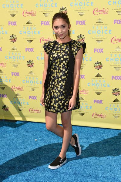 Actress Rowan Blanchard attends the Teen Choice Awards 2015 at the USC Galen Center on August 16, 2015 in Los Angeles, California.