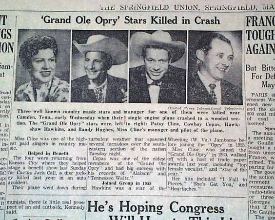 Image result for patsy cline death