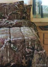 Realtree Boys Girls Tree Camouflage Camo 3pc FULL QUEEN Comforter Shams NEW
